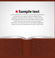 open leather book background vector image