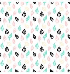 nature leaf brush seamless pattern vector image