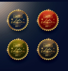 Limited edition labels set design vector