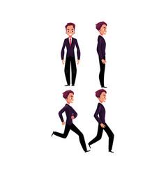 Happy businessman in business suit standing vector