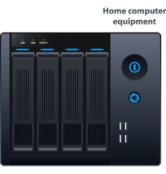 Nas storage for four hard drives vector