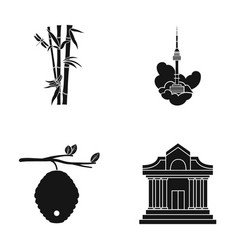 Museum beekeeping tourism and other web icon in vector