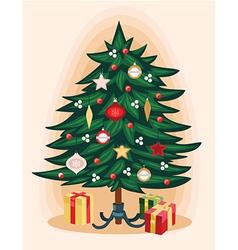 Traditional christmas tree cartoon vector