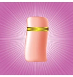 Cosmetic bottle vector