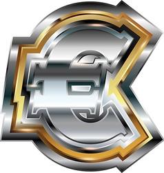 Fancy euro symbol vector