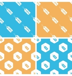 Discount pattern set colored vector