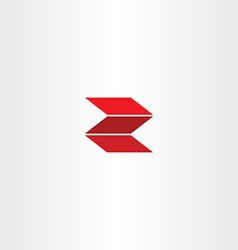 Red letter z logotype logo z vector