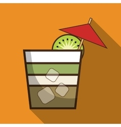 Drink design cocktail icon style glass vector
