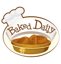 A bakery label vector