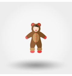 Baby dressed as a Bear vector image