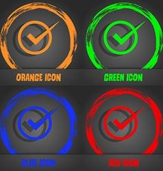 Check mark sign icon checkbox button fashionable vector