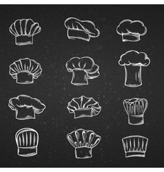 Chef caps hats and toques icons vector