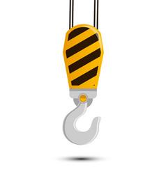 construction industrial hook vector image vector image