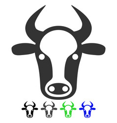 Cow head flat icon vector