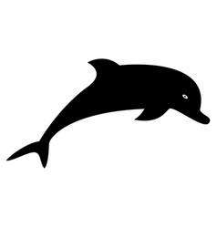 Dolphin the black color icon vector