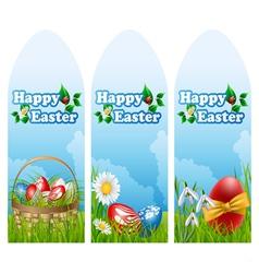 Easter banner set vector