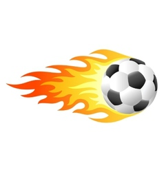 Flaming soccer ball vector image vector image