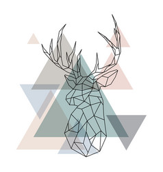 geometric reindeer vector image vector image