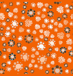 Geometric vintage seamless flowers background vector