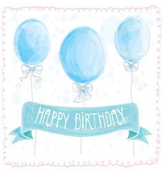 happy birthday greeting card balloons vector image vector image