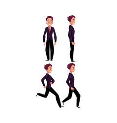 happy businessman in business suit standing vector image vector image