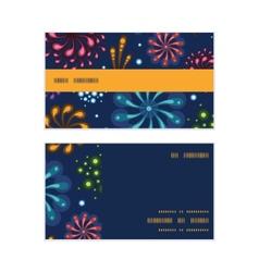 Holiday fireworks horizontal stripe frame pattern vector
