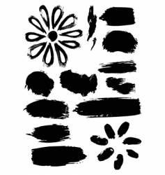 ink elements vector image vector image