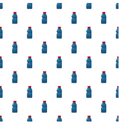 Plastic bottles of cleaning product pattern vector