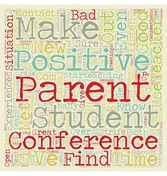 Positive Parent Conferences text background vector image vector image