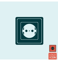 Power socket icon isolated vector