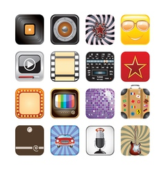 Retro app icons vector