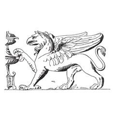Roman griffin vintage vector