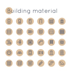 Round Building Material Icons vector image vector image