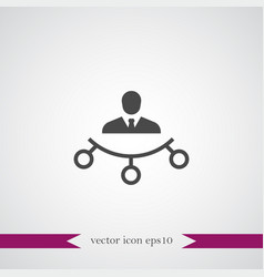 teamwork icon simple vector image vector image