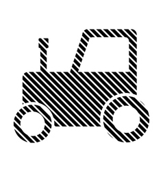 Tractor sign on white vector