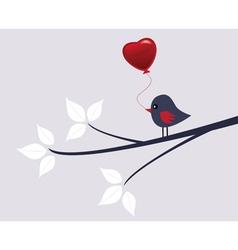 Valentine bird vector