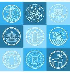 Water emblem set vector image