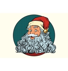 Classic santa claus with white beard vector