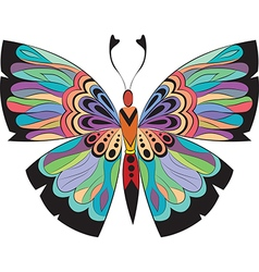 Colored butterflies with patterns vector