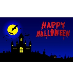 Halloween banner halloween pumpkins and dark vector