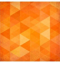 Abstract triangles vintage orange background vector