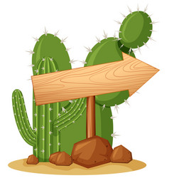 Right arrow in cactus garden vector