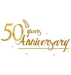 Happy anniversary celebration design vector