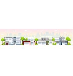 Modern houses in the suburbs vector