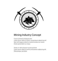 flyer of the mining industry vector image