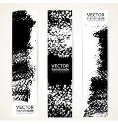 Black ink strokes banner set vector image