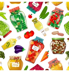 seamless texture with preserve food vector image