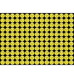 Yellow smiles background vector