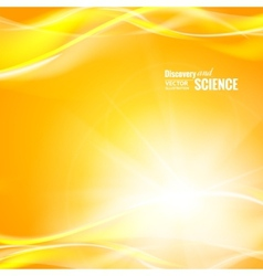 Orange science background vector
