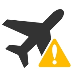 Aircraft warning icon vector